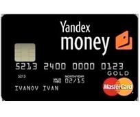 Платежная карта Яндекс Деньги