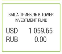 Заработано за все время в Tower Investment Fund